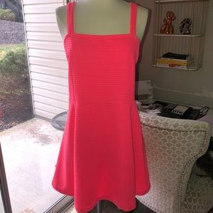 H&M Neon pink mini dress